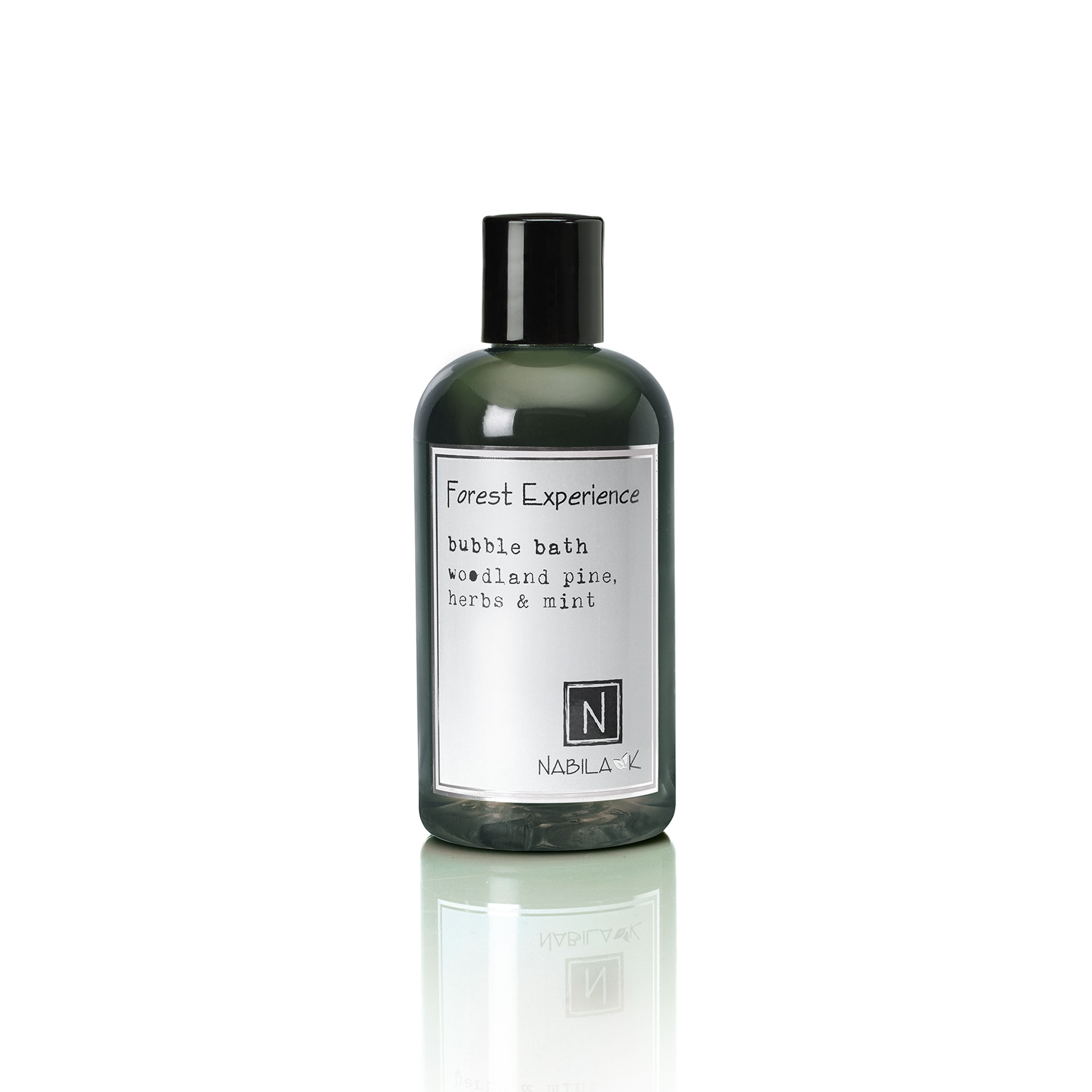 1 8oz bottle of forest experience bubble bath woodland pine, herbs and mint