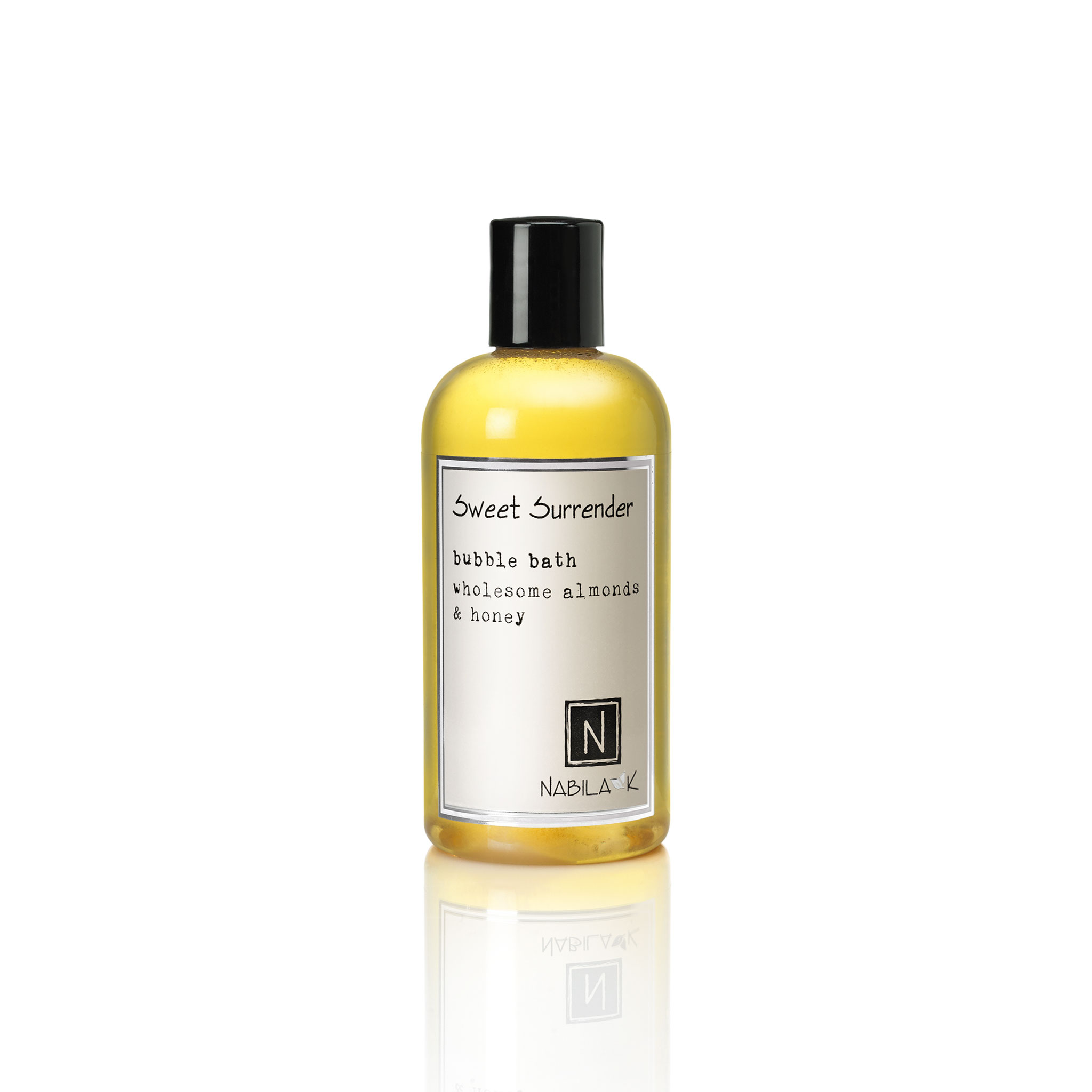 1 8oz bottle of sweet surrender bubble bath wholesome almonds and honey
