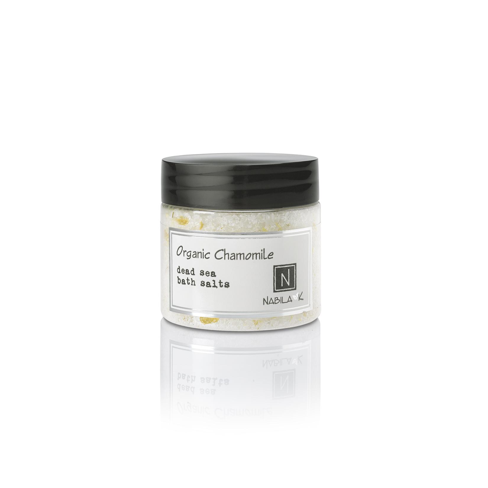 Travel Sized Version of Nabila K's Organic Chamomile Dead Sea Bath Salts