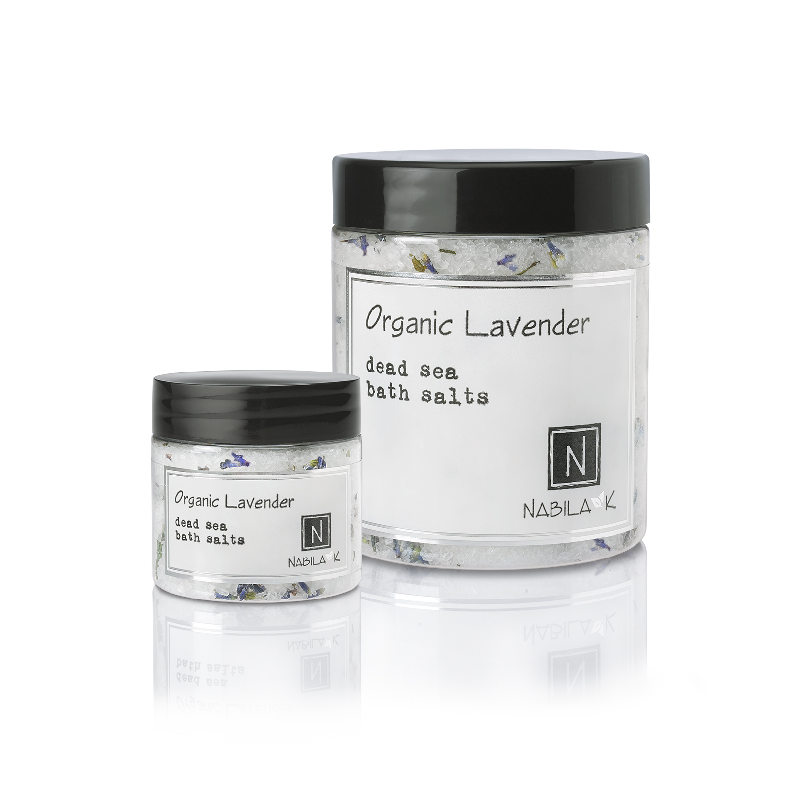 Lavender bath salts made with all natural ingredients.