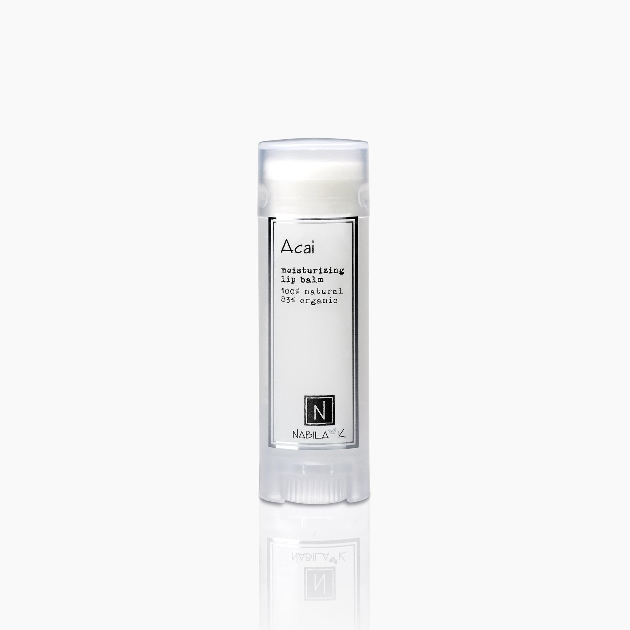 acai moisturizing lip balm 100% natural 85% organic