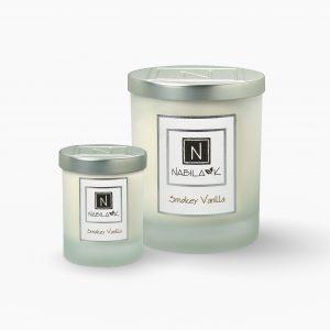 1 Large and 1 Small Version of Nabila K's Smokey Vanilla Candle