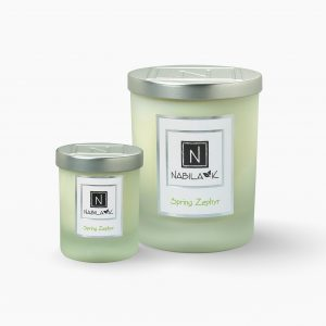 1 Large and 1 Small Version of Nabila K's Spring Zephyr Candle