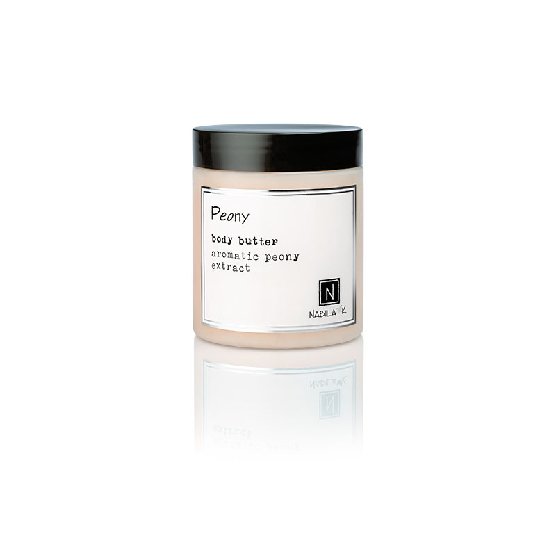 1 10oz jar of Nabila K's Peony Body Butter with aromatic peony extract