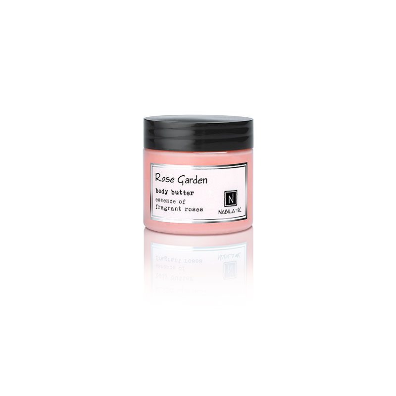1 2oz jar of Nabila K's Rose Garden Body Butter with essence of fragrant roses