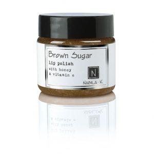 1 oz of Nabila K's Brown Sugar Lip Polish with Honey and Vitamin E