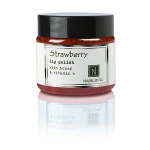 1 oz of Nabila K's Strawberry Lip Polish with Honey and Vitamin E
