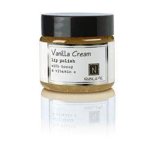1 oz of Nabila K's Vanilla Cream Lip Polish with Honey and Vitamin E