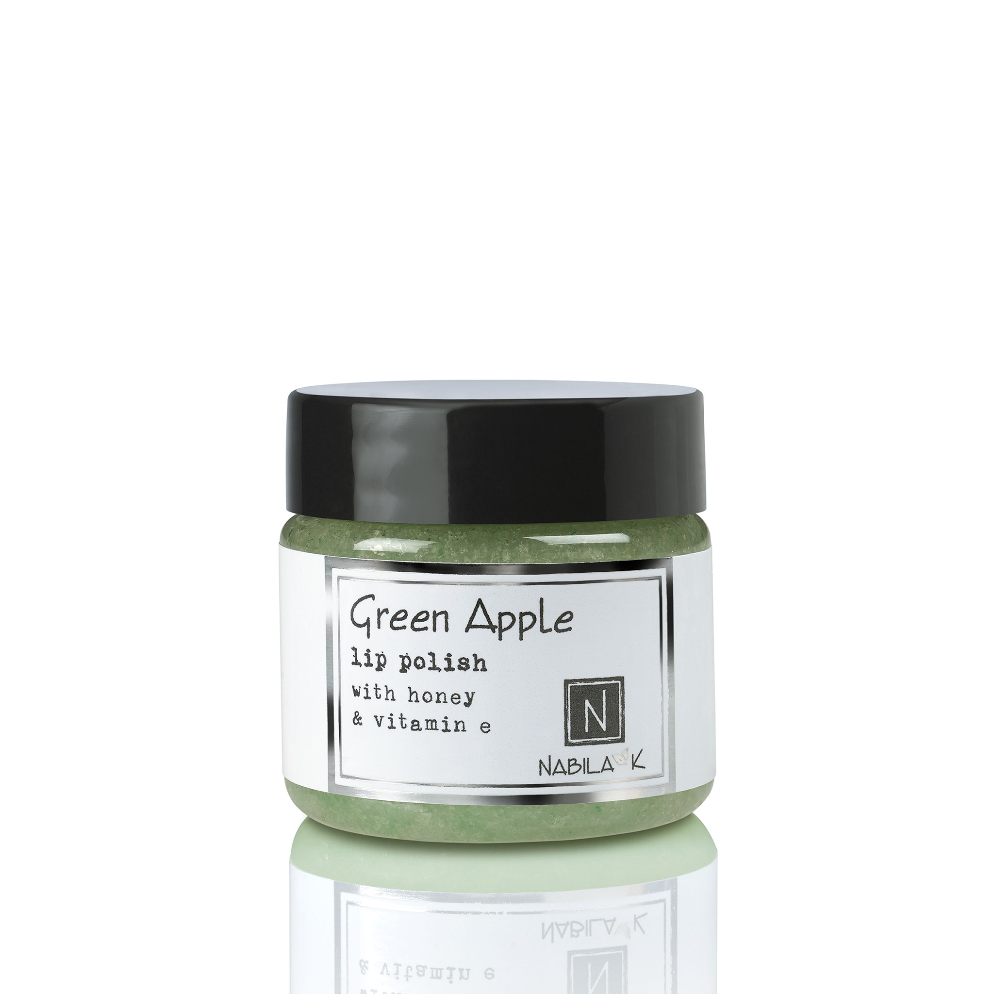 Green Apple lip scrub with honey & vitamin e. Great for promoting healthy, kissable lips!