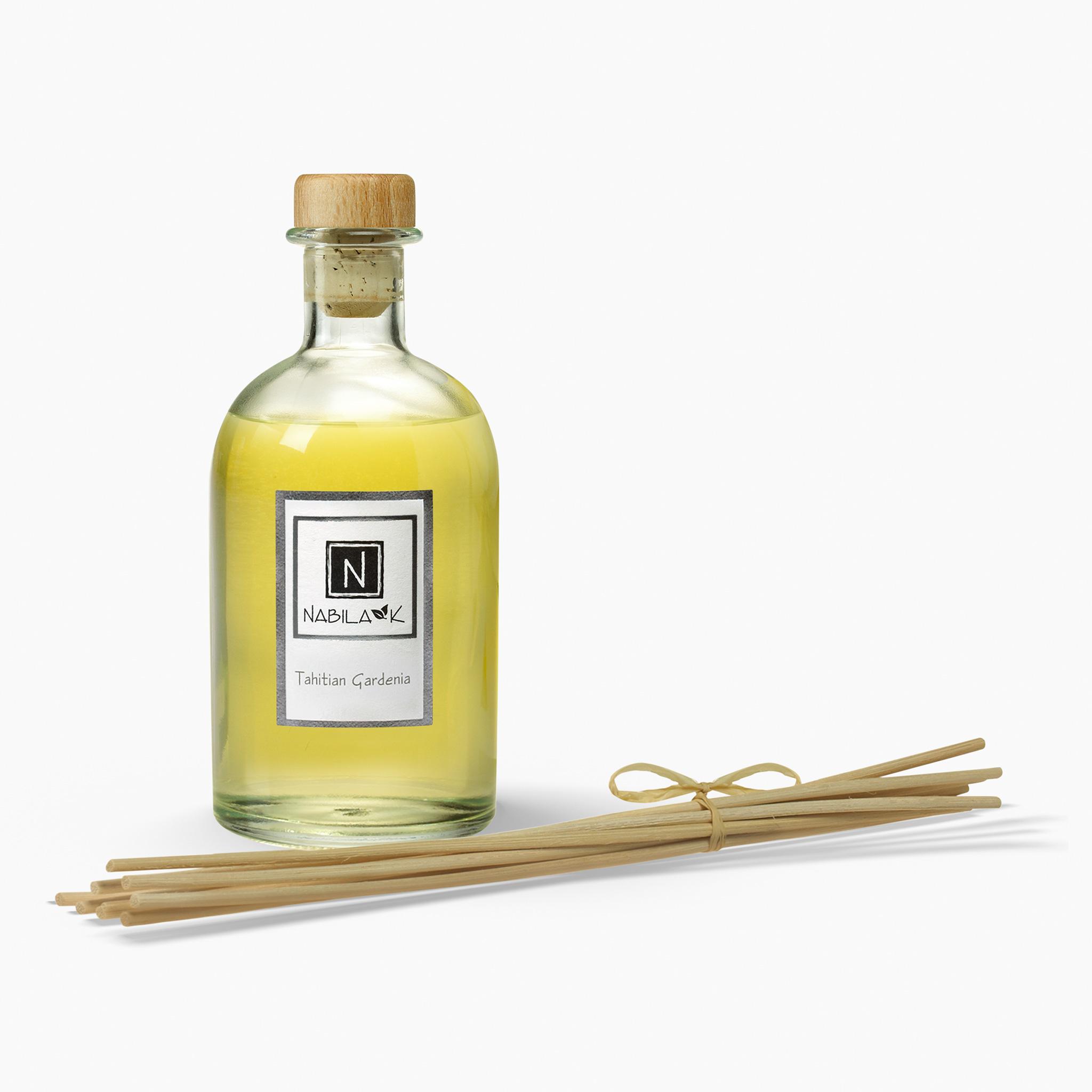1 Bottle of Nabila K's Tahitian Gardenia Diffuser with Reeds