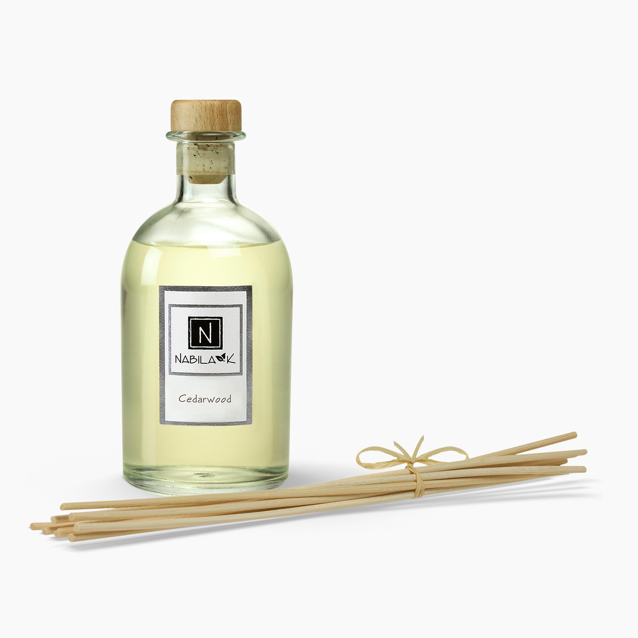 1 Bottle of Nabila K's Cedarwood Diffuser with Reeds