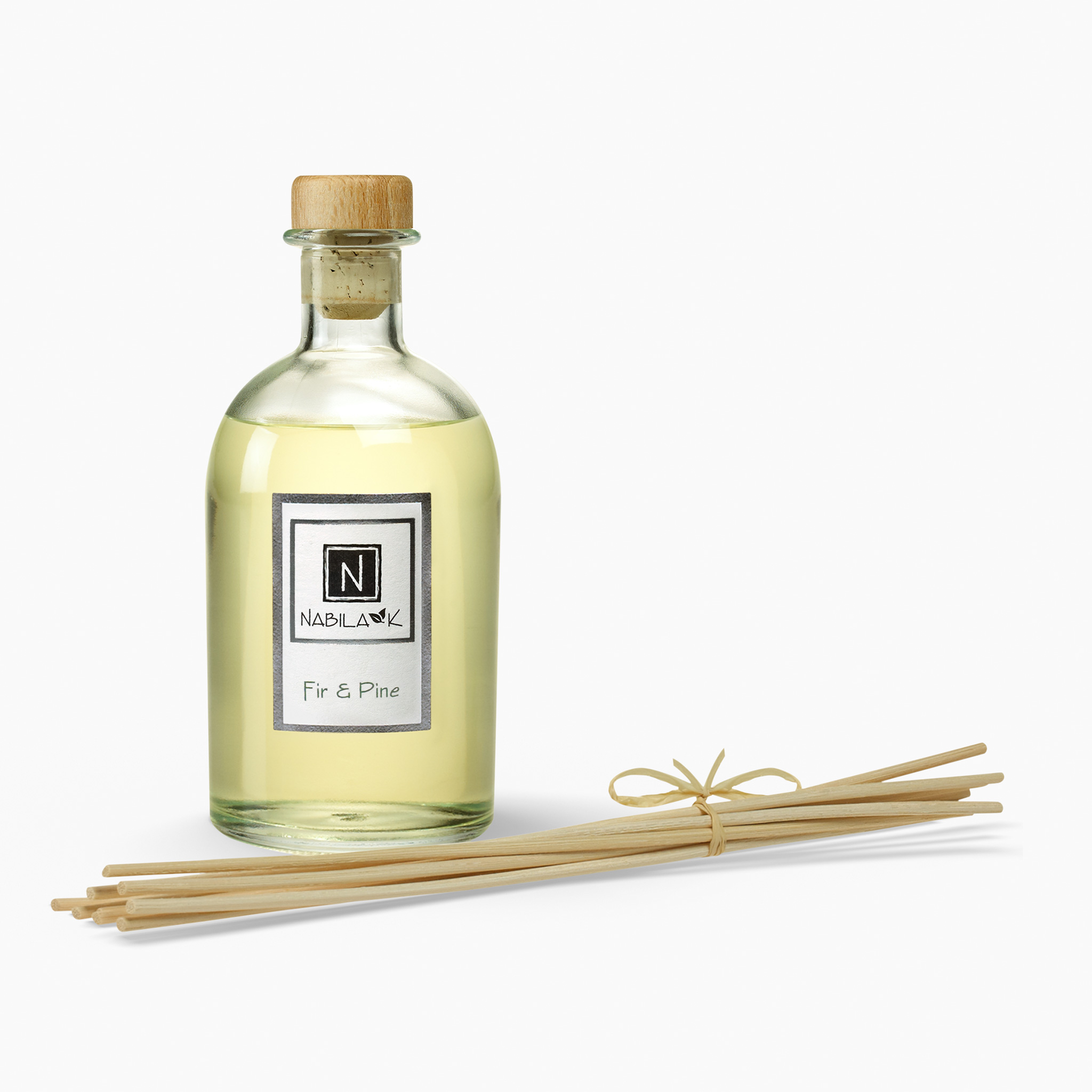 1 Bottle of Nabila K's Fir and Pine Diffuser with Reeds
