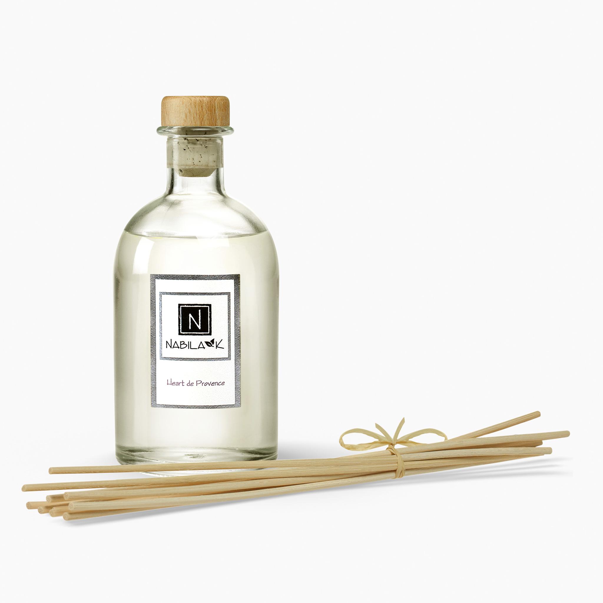1 Bottle of Nabila K's Heart de Provence Diffuser with Reeds