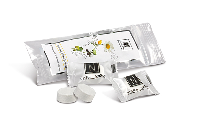 Nabila K's Compact Hand Towels 6 Disposable and Biodegradable Towels