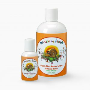 1 Large Size and Travel Size Me and My Friends Gentle Shea Butter Lotion Kids and Babies