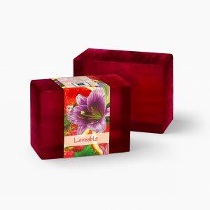 2 Bars of Nabila K's Lovable Glycerine Full Bloom Glycerin Soap