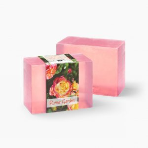 2 Bars of Nabila K's Rose Garden Full Bloom Glycerin Soap