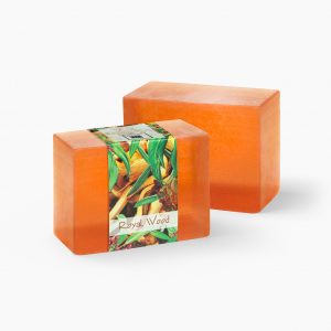 2 Bars of Nabila K's Royal Wood Full Bloom Glycerin Soap