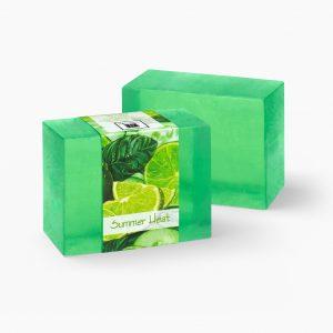 2 Bars of Nabila K's Summer Heat Full Bloom Glycerin Soap