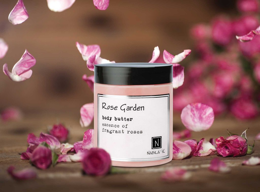 1 Jar of Nabila K's Rose Garden Body Butter Essence of Fragrant Roses