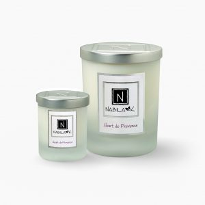 Small and Large Versions of Nabila K's Heart de Provence Candles