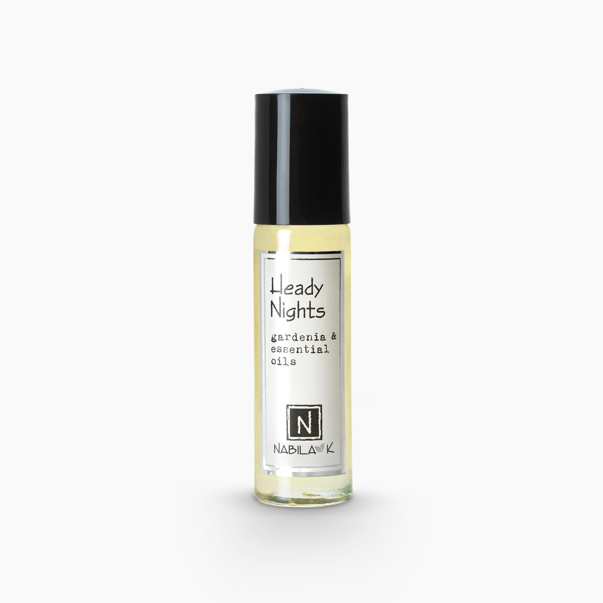 .33oz of Nabila K's Heady Nights Gardenia and Essential Oils Roll on Perfume