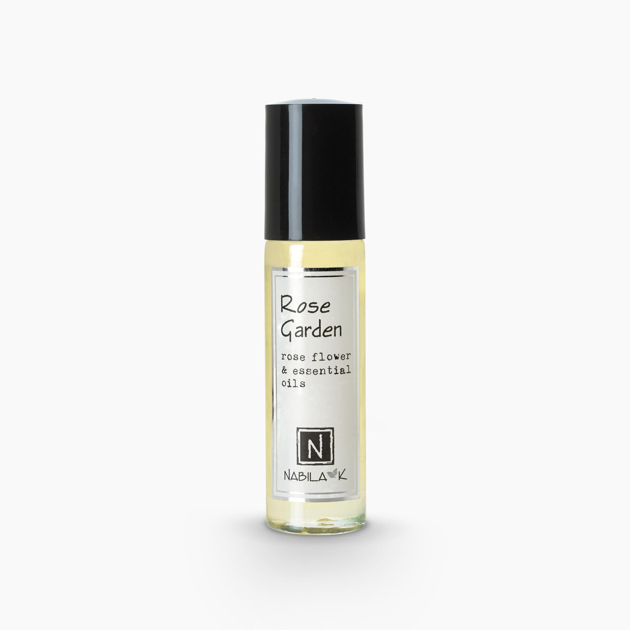 .33oz of Nabila K's Rose Garden Rose Flower and Essential Oils Roll on Perfume
