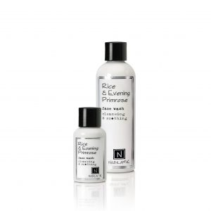 2.4oz and 9oz of rice and evening primrose face wash cleansing and soothing
