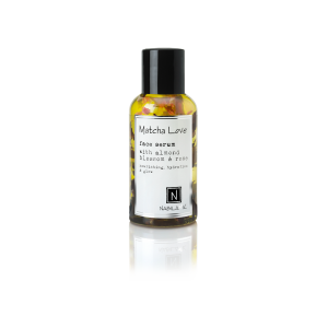 1 2.4 Bottle of Nabila K's Matcha Love Face Serum with almond blossom and rose