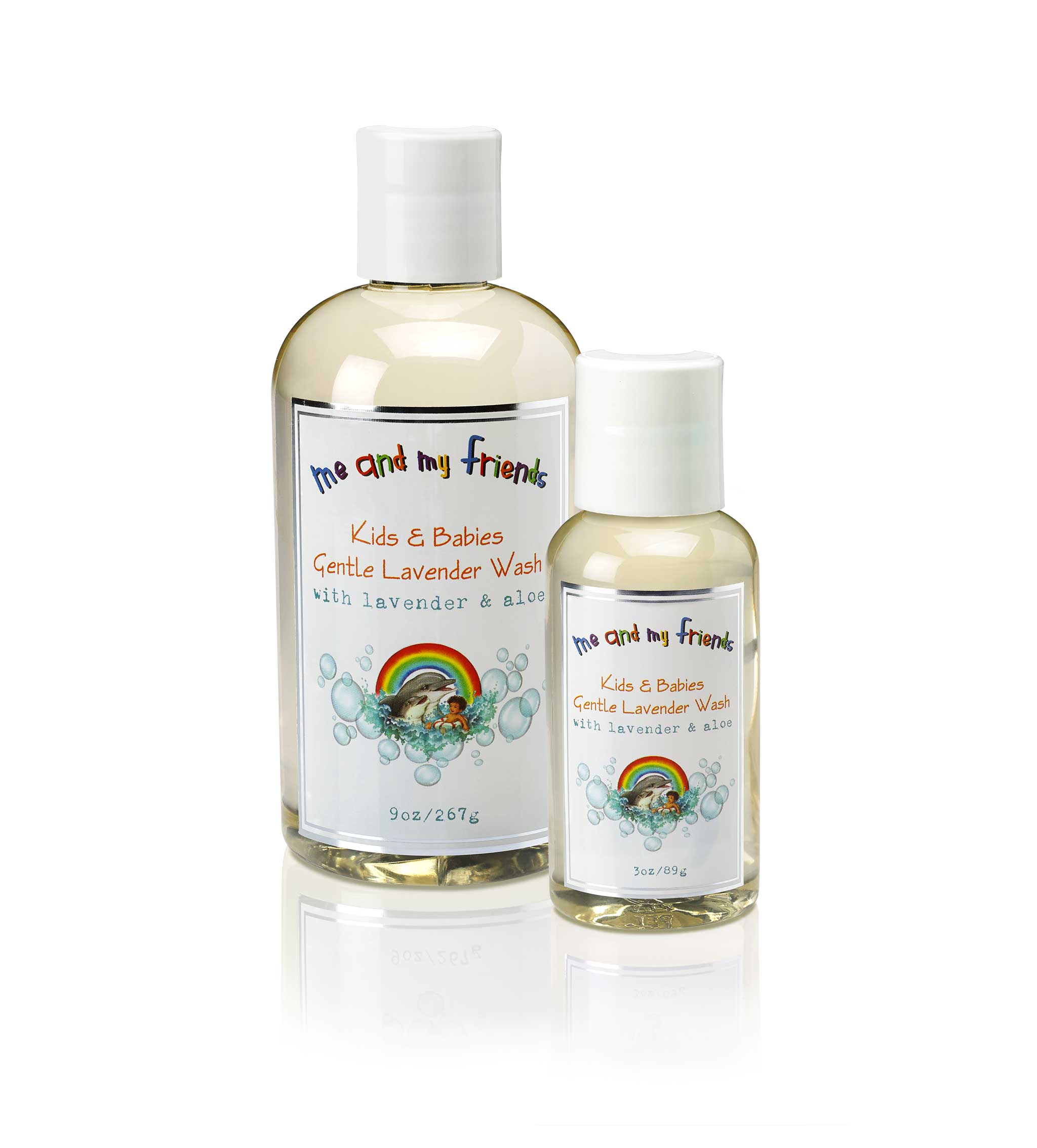 Child safe wash with natural oils of lavender and calendula extracts