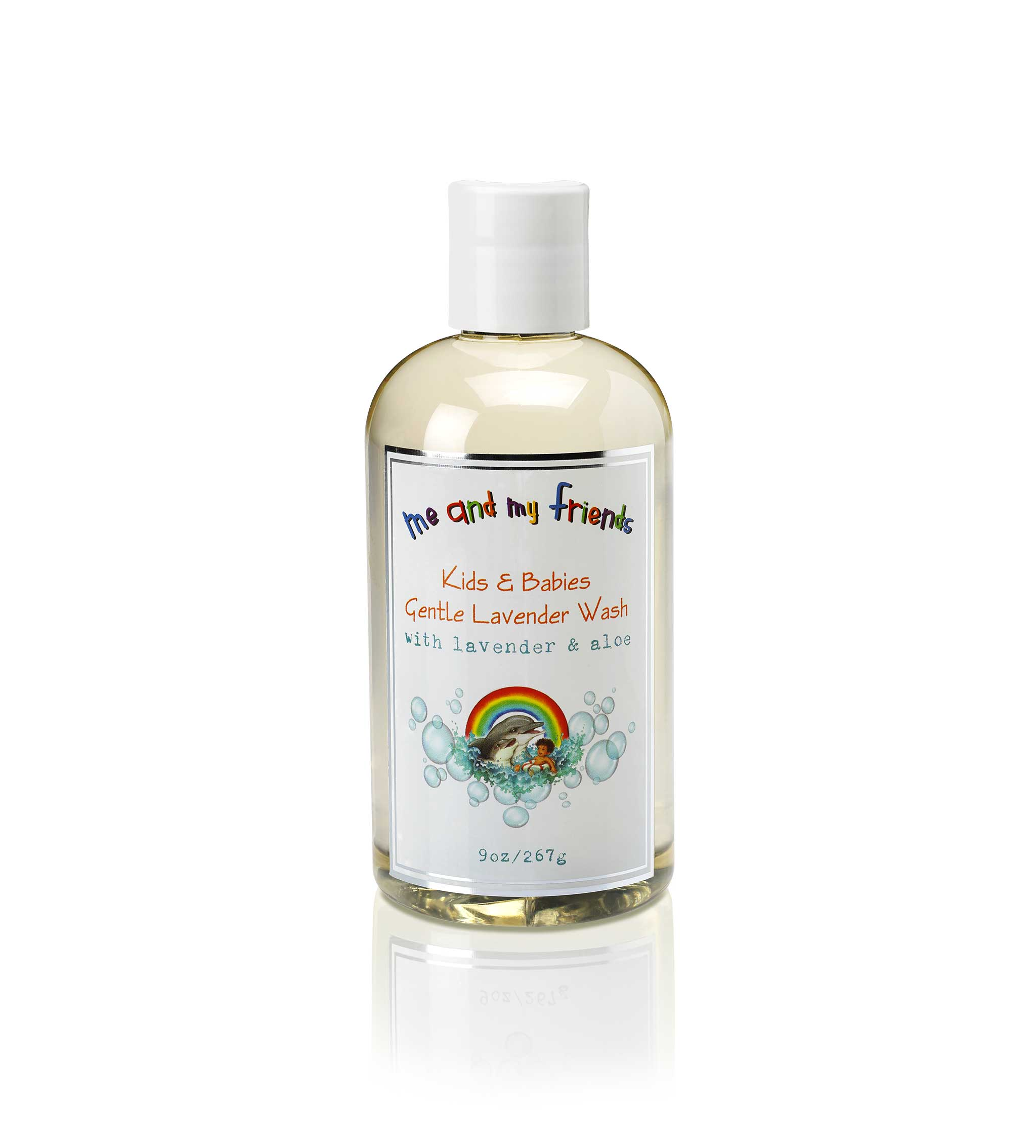 9oz bottle of Nabila K's 'Me and My Friends' Kids and Babies Gentle Lavender Wash with Lavender and Aloe