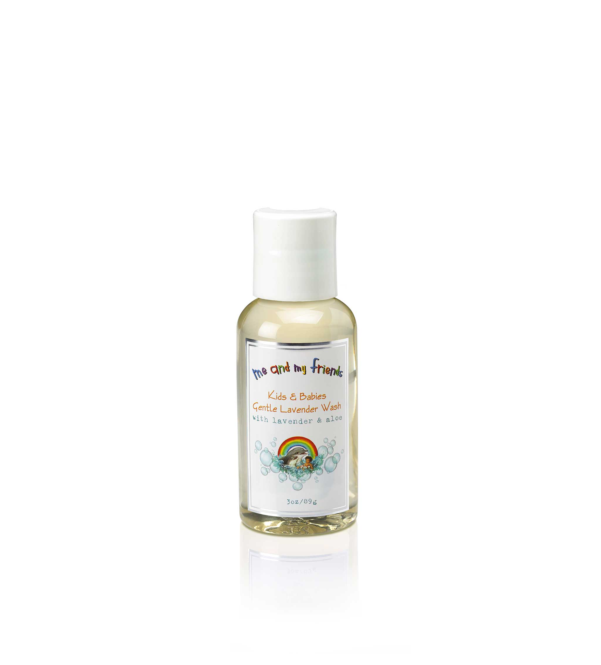 3oz bottle of Nabila K's 'Me and My Friends' Kids and Babies Gentle Lavender Wash with Lavender and Aloe