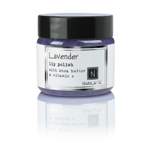 1oz of Nabila K's Lavender Lip Polish with Shea Butter and Vitamin E