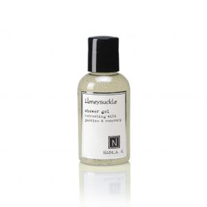 One Travel Sized Bottle of Nabila K's Honeysuckle Shower Gel Refreshing with Jasmine and Rosemary