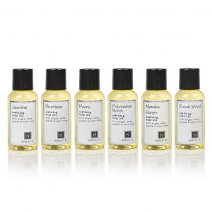 6 of Nabila K's Travel Sized Soothing Body Oil with Argan, Shea, Jojoba and Aloe Vera