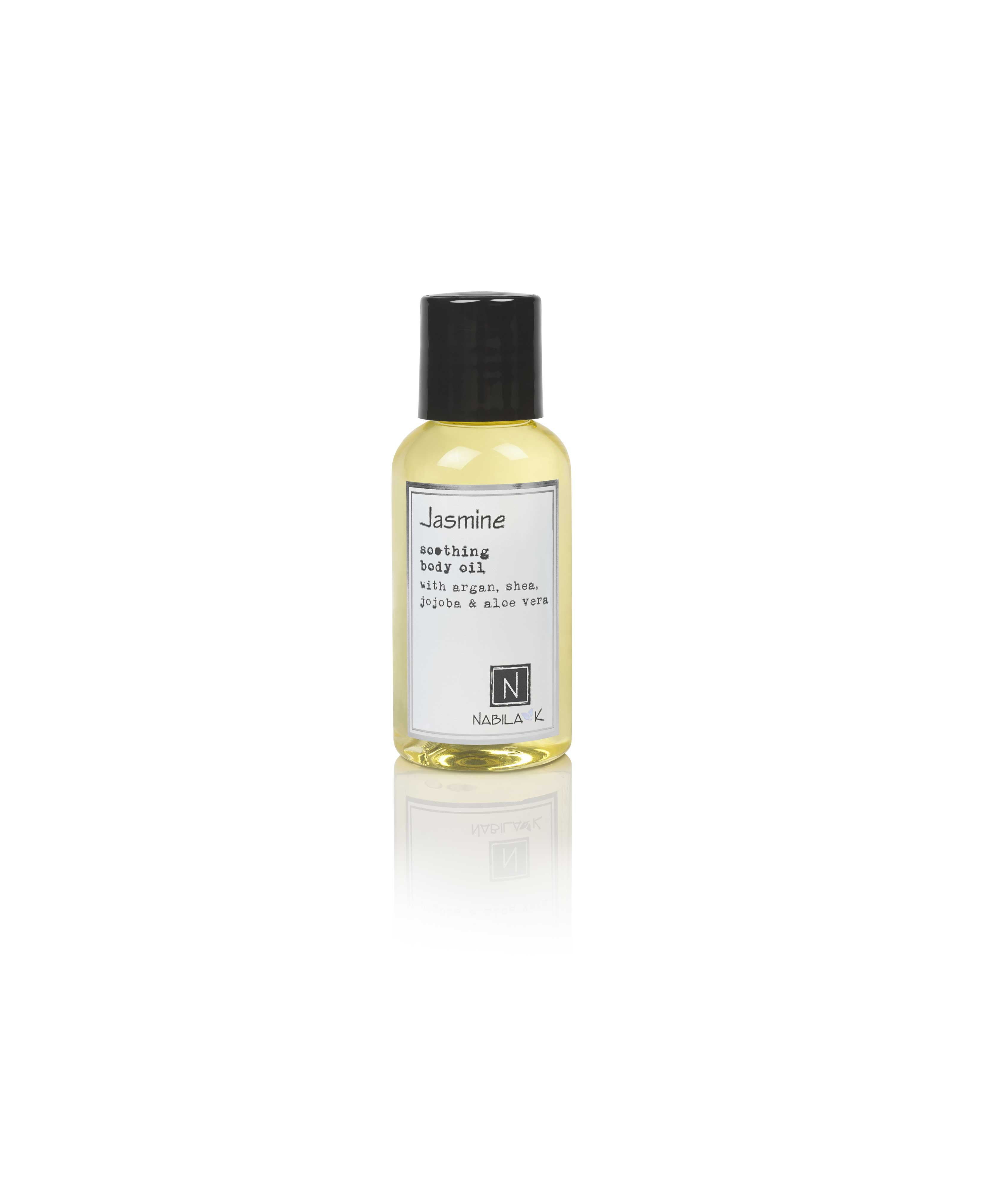 1 2.4oz Bottle of Jasmine Soothing Body Oil with Argan, shea, jojoba, and aloe vera