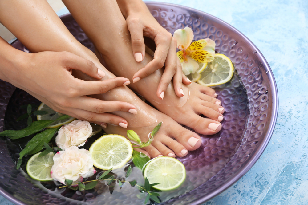 Moisturize and groom hands a feet with all natural manicure & pedicure products