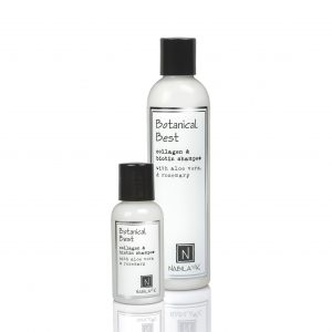 1 Large and Travel Sized Bottle of Botanical Best Collagen and Biotin Shampoo with Aloe Vera and Rosemary