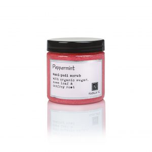 1 Jar of Nabila K's Peppermint Mani-Pedi Scrub with Organic Sugar, Neem Leaf and Comfrey Root