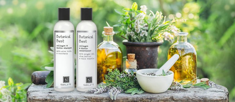 Produced with all natural ingredients to gently cleanse and condition stressed hair.