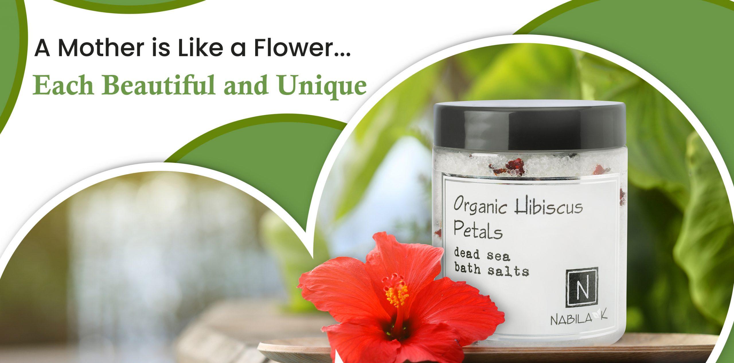 Organic Hibiscus Petals Bath Salts